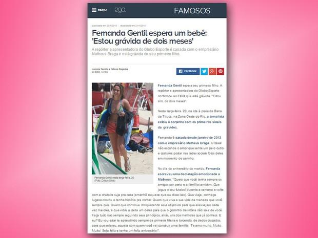 Fernanda Gentil anuncia que será mãe (Foto: Reprodução/ Internet)