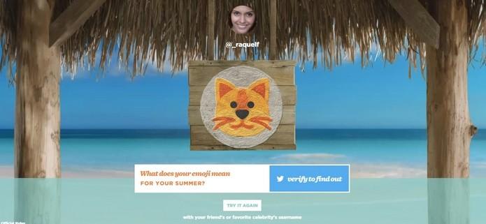 Emoji mais usado no Twitter, segundo site Emoodji (Foto: Reprodução/Raquel Freire)