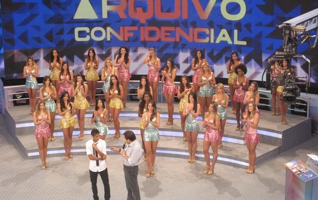 Neymar Faustão Domingão Arquivo Confidencial (Foto: Cassio Barcos/GLOBOESPORTE.COM)