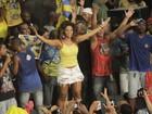 Juliana Alves comemora título de tetracampeonato na quadra da Tijuca