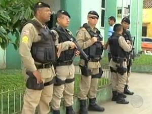 Força Nacional em Buerarema, no sul da Bahia (Foto: Reprodução/TV Bahia)