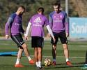 Benzema se junta ao grupo do Real, mas Casemiro segue treinando à parte