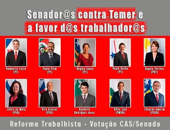 Tucano entra na galeria petista de senadores contra Temer (Foto: Reprodução)