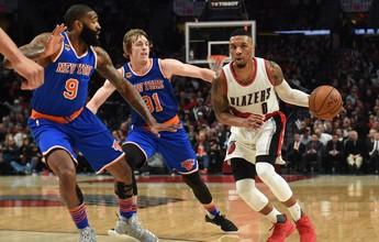 Blazers passam pelos Knicks e seguem firmes na luta pelos playoffs