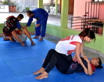 Projeto Jiu Jitsu na Escola, da academia J.S. Nova União  (Foto: Nathacha Albuquerque)