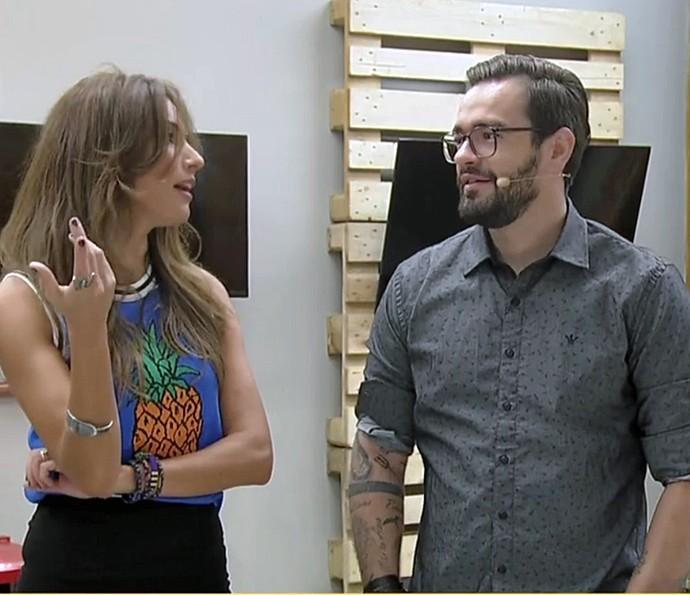Fábio Basso deu dicas para esconder fios em casa (Foto: TV Globo)