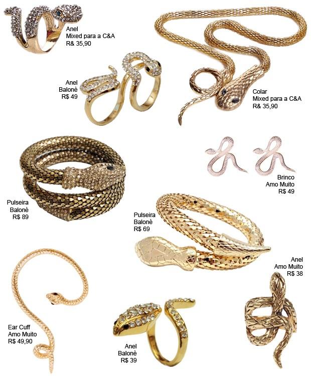 Fique de olho: acessórios de serpente (Foto: Divulgação)
