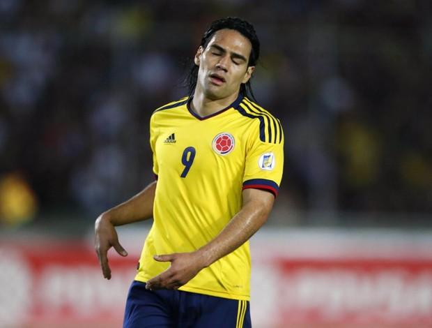 Falcao com a Colômbia contra a Venezuela (Foto: Reuters)