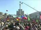 Manifestantes pró e contra Rússia vão às ruas em cidades da Ucrânia