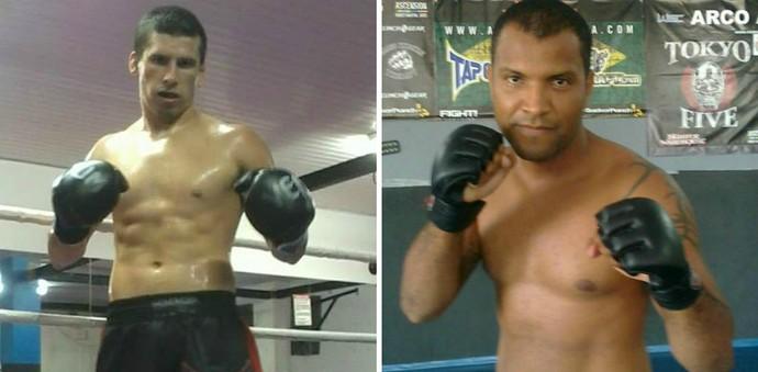 Jhonatan Bombeiro enfrenta Luis Carlos Queiroz no Sama Fight Combat 2 (Foto: Montagem sobre fotos de arquivo pessoal)