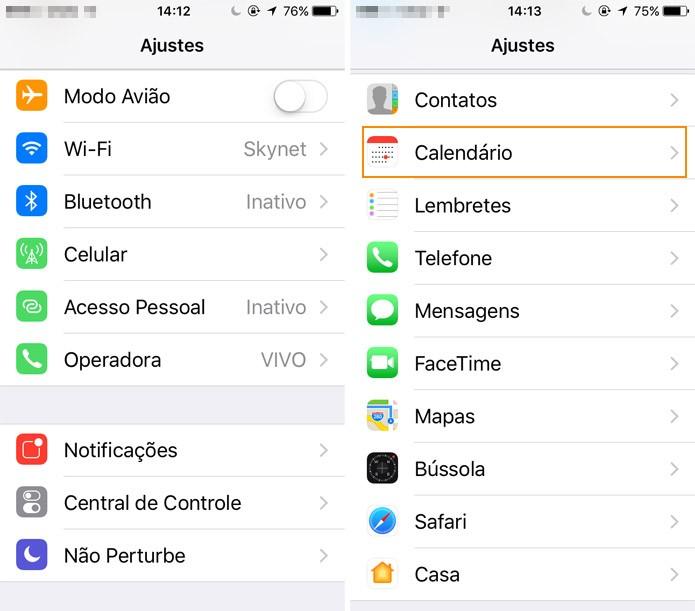 Entre no app Ajustes do iPhone (Foto: Reprodução)