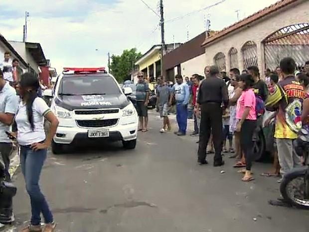 Crime ocorreu no bairo Nova Cidade, na Zona Norte de Manaus (Foto: Reprodução/Rede Amazônica)