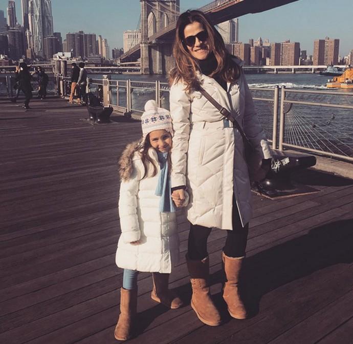 Ingrid Guimarães posa com a filha, Clara (Foto: Arquivo Pessoal)