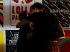 Cleo Pires é flagrada aos beijos com Leandro D'lucca no Lollapalooza