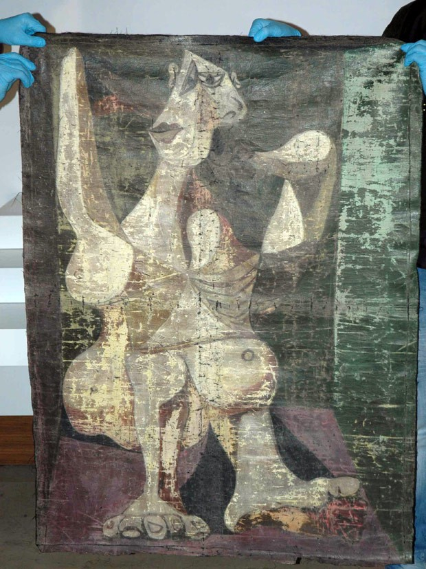 Polícia turca recupera quadro de Picasso roubado em Nova York (Foto: Istanbul Security Dept/AP)