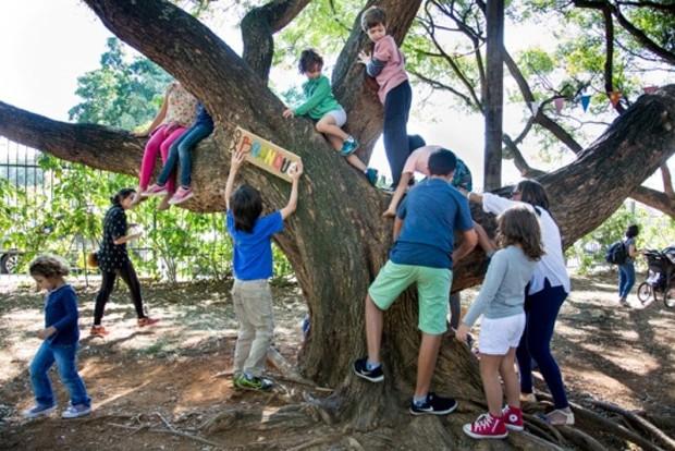 Movimento estimula famílias a se desconectarem da rotina do dia a dia  (Foto: Luciana Borges)