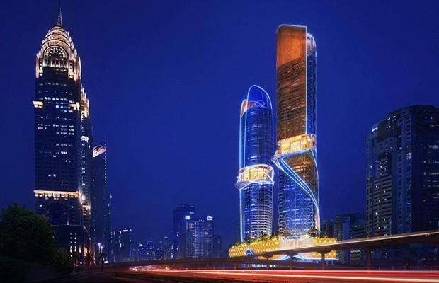 As torres serão mais uma atração à cidade que já é famosa por seus arranha-céus (Foto: Reprodução/Plompmozes)