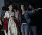 Fabiula Nascimento e a diretora Rosane Svartman nas filmagens de 'Pluft' | Ton Apolinário/Divulgação