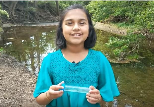 Gitanjali Rao vencedora do Discovery Education 3M Young Scientist Challenge  (Foto: Reprodução/YouTube/The Discovery Education 3M Young Scientist Challenge)