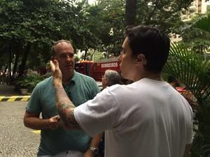 Luis Octavio Menezes, de 36 anos, contou que alguns andares desapareceram (Foto: Matheus Rodrigues/G1)
