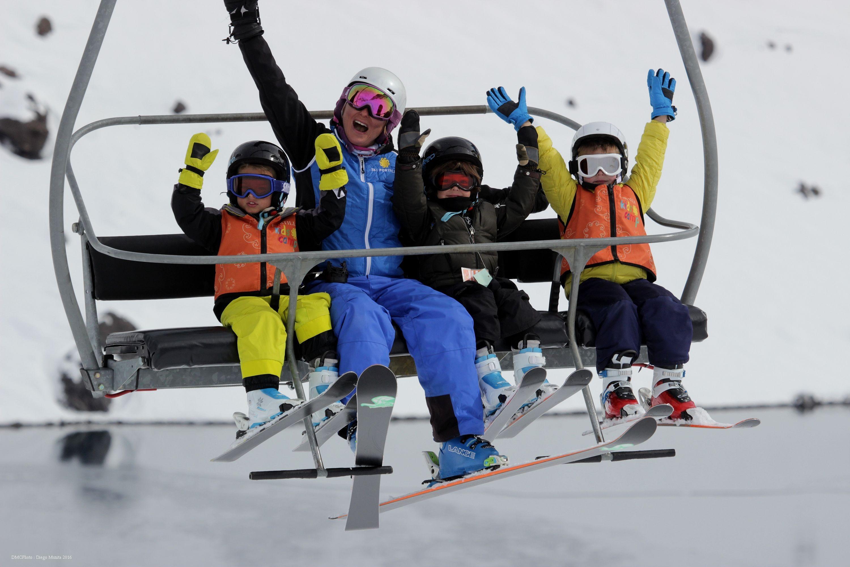 neve com crianças estação de ski portillo (Foto: Divulgação)
