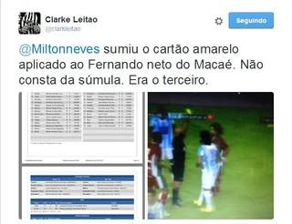 advogado do Ceará ], clarke leitão, cartão amarelo (Foto: Reprodução)