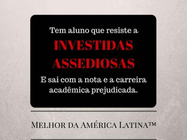 Página criada por alunos de relações internacionais da UnB lista denúncias de preconceito em sala de aula (Foto: Facebook/Reprodução)
