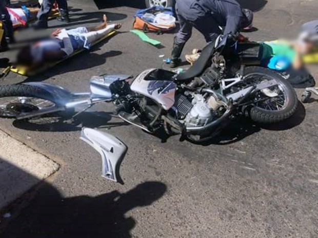 fuga motocicleta assalto bolsa Uberaba acidente trânsito (Foto: G1/ G1)