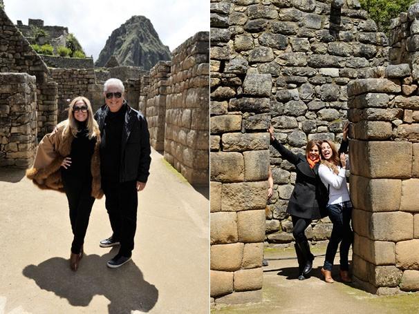 Antônio Fagundes, Susana Vieira, Paolla Oliveira e Bárbara Paz gravam em ruínas de Macchu Pichu (Foto: Estevam Avellar / TV Globo)