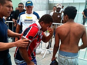 Confusão na Arena Fonte Nova na venda dos ingresso para o Ba-Vi, Bahia (Foto: Thiago pereira/ GloboEsporte.com)