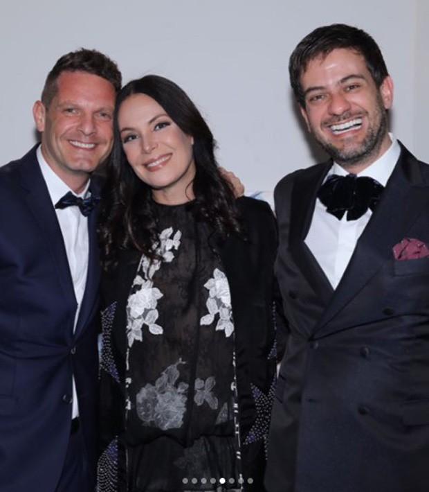 David Hertz, Carolina Ferraz e Bruno Astuto (Foto: Reprodução/Instagram)