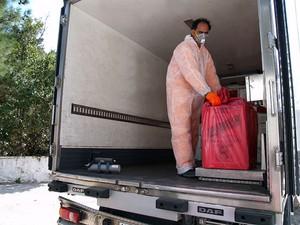 Descarte de lixo hospitalar (Foto: Divulgação/Ascom Alerj)