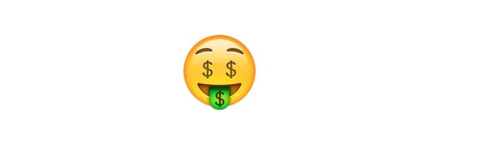 Está com dinheiro? Use o emoji dinheiro! (Foto: Reprodução/emojipedia)