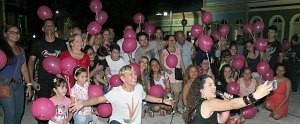 Nova novela das 9 é lançada em clima de romance no Largo São Sebastião, em Manaus (Katiúscia Monteiro/ Rede Amazônica)