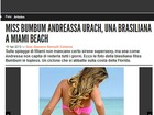 Andressa Urach  destaque em site de badalada revista italiana