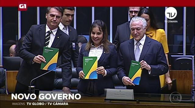 G1 em 1 Minuto: Bolsonaro volta ao Congresso como presidente eleito em sessão solene