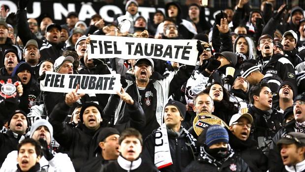 torcida Corinthians jogo Mundial (Foto: EFE)