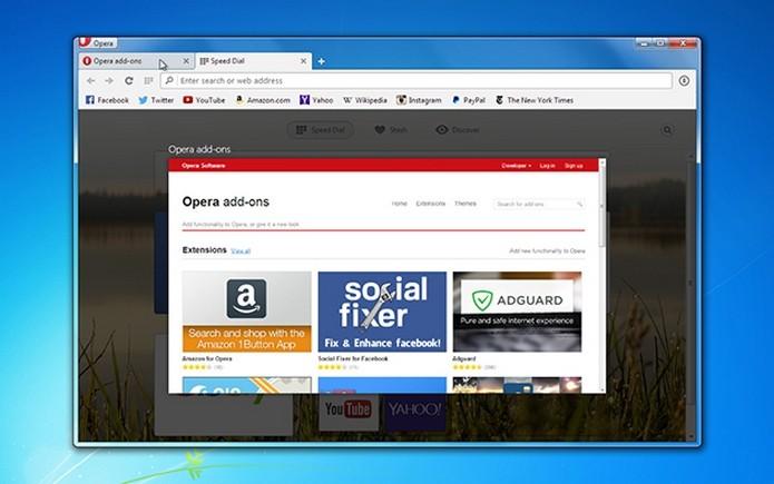 Opera 24 exibe pré-visualização grande das guias (Foto: Divulgação/Opera)