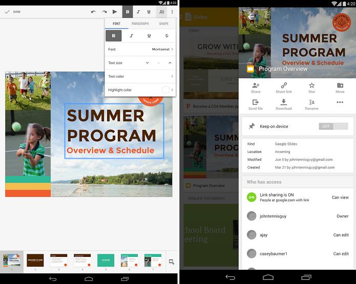 Google Slides é um aplicativo de apresentações do Google (Foto: Divulgação/Google Slides)