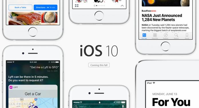 iOS 10 foi lançado no WWDC 2016 com muitas mudanças (Foto: Reprodução/Apple)