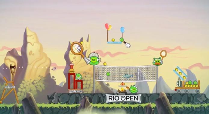 Angry Birds conta com fase temática do Rio Open (Foto: Divulgação)
