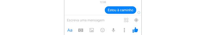 Ícone de mensagem sendo enviada no Facebook Messenger para Android (Foto: Reprodução/Raquel Freire)