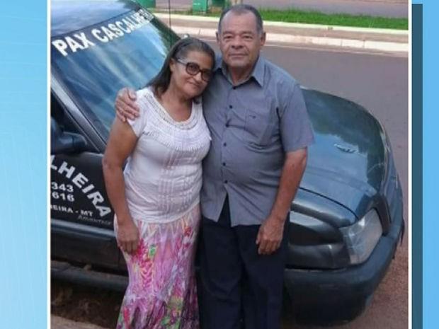 Iraci Campos e o marido dela, Raimundo José dos Santos, morreram no acidente (Foto: Reprodução/TVCA)