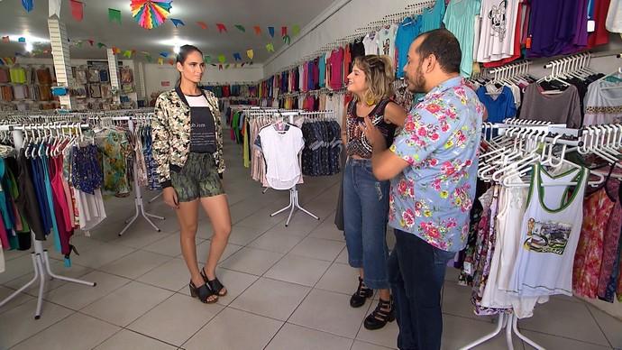 Produção camuflada conta com mistura de tons (Foto: TV Bahia)