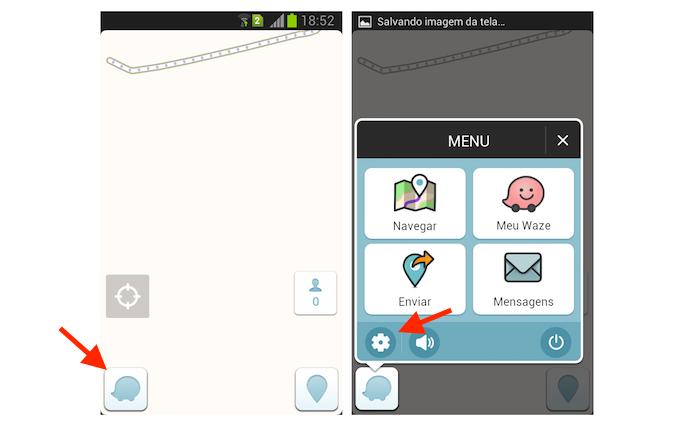 Acessando as configurações do Waze no Android (Foto: Reprodução/Marvin Costa)