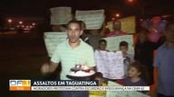 Moradores da QNM 42, em Taguatinga, protestam contra escuridão