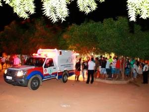 Churrascaria alvo dos criminosos fica na comunidade do Jucuri, em Mossoró (Foto: Marcelino Neto/G1)