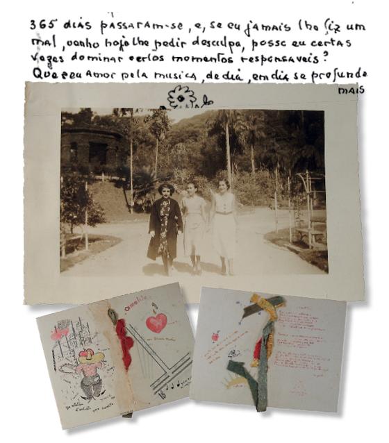 SÉRIAS E COMPORTADAS Amalita Fontenelle (à esq.) e suas irmãs, Anita e Lola. O celibato das irmãs se tornou folclórico na família (Foto: Divulgação)