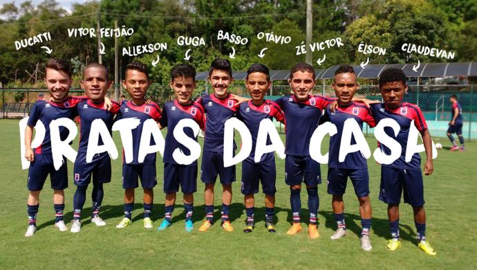 Paraná Clube pratas da casa (Foto: Site oficial do Paraná Clube/Divulgação)