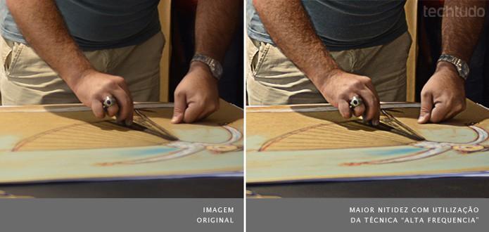 Com o Photoshop é possível aumentar a nitidez de uma imagem (Foto: Adriano Hamaguchi/TechTudo)